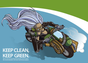 Keep Clean, Keep Green Illustrator CS4